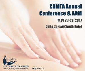 CRMTA will hold its annual AGM & Conference May 23-26, 2017 at the Delta Calgary South Hotel.