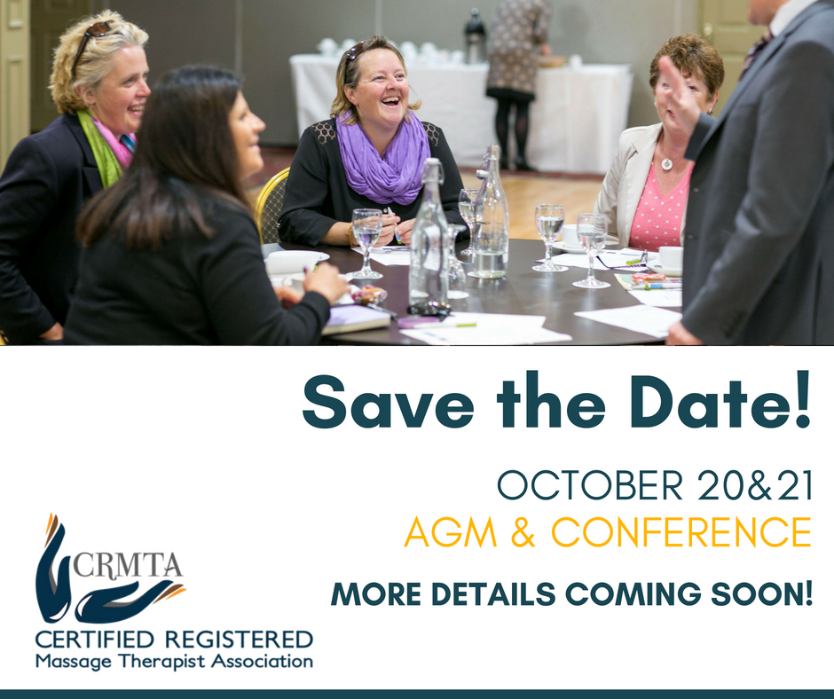 CRMTA AGM 2018 Save the Date